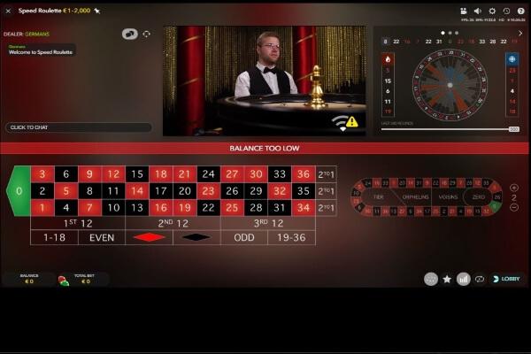 Spin Palace Live Casino Screenshot