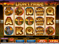 Lions Pride online slots at Ruby Fortune Casino