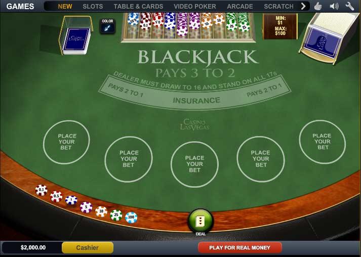 Play Blackjack at Casino Las Vegas