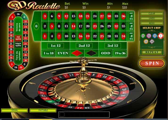 3D Roulette Table at Casino Las Vegas