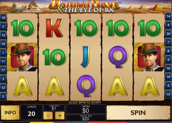 Daring Dave and the Eye of Ra Slots