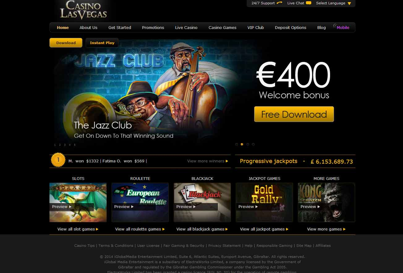 Welcome Offer at Casino Las Vegas