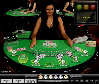888 Live Dealer Table