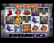 Happy Holidays Online Slots at Ruby Fortune