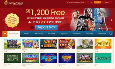 Games available at Royal Vegas