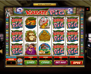 Karate Pig - A great slots game